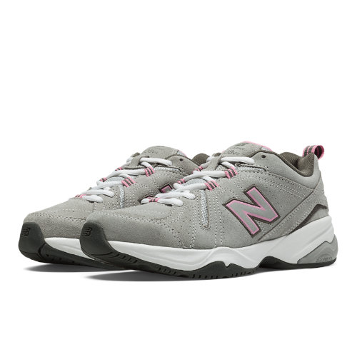 New Balance 608v4 Women's Everyday Trainers Shoes - Grey, Pink (WX608V4G)