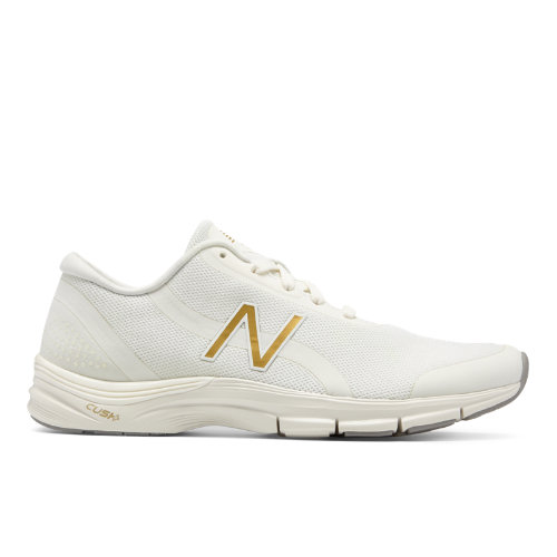 New Balance 711v3 Heathered Trainer Women's Cross-Training Shoes - Off White / Gold (WX711SM3)