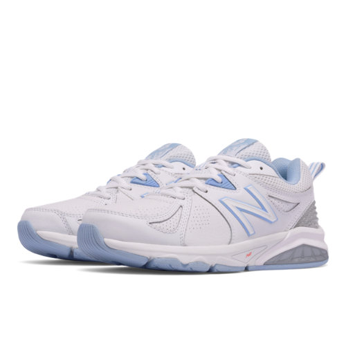 New Balance 857v2 Women's Cross-Training Shoes - White / Blue (WX857WB2)