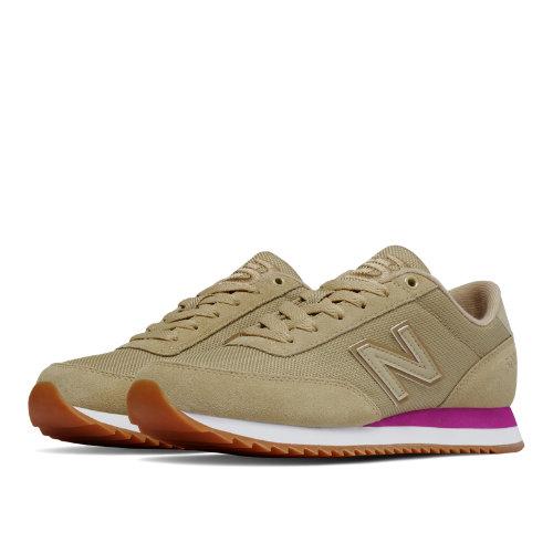 New Balance 501 Ripple Sole Textile Women's Running Classics Shoes - Dust / Jewel (WZ501AAD)
