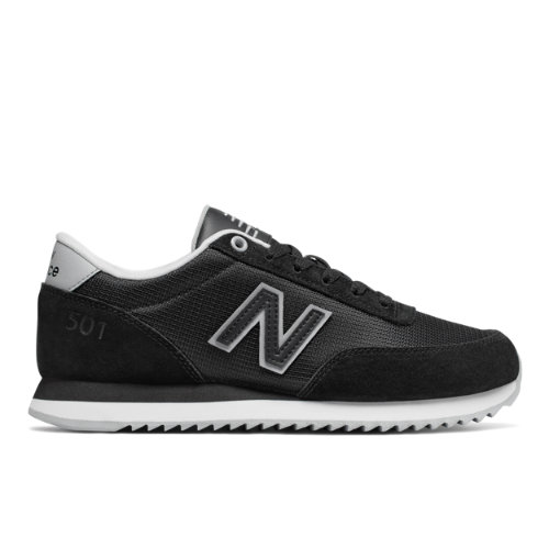 New Balance 501 Heritage Women's Running Classics Sneakers Shoes - Black / White (WZ501PCD)