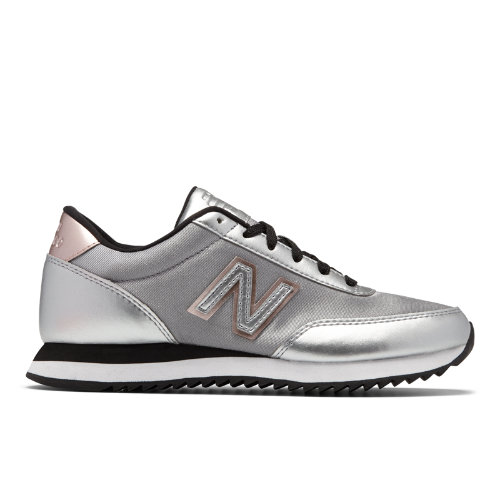 New Balance 501 Ripple Sole Women's Running Classics Shoes - Silver / Black (WZ501SFF)