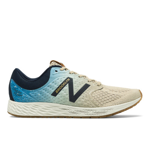 New Balance Fresh Foam Zante v4 Brooklyn Half Women's Neutral Cushioned Shoes - Blue / Beige (WZANTBR4)