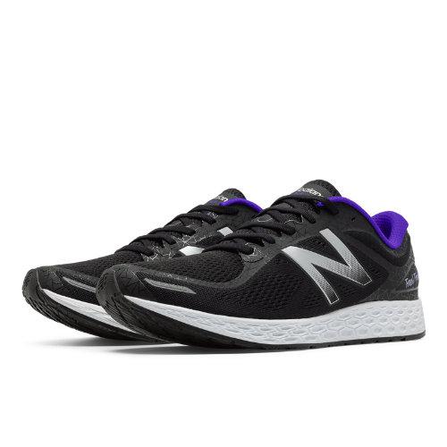New Balance Zante v2 Queens Women's Soft and Cushioned Shoes - Black / Silver / Purple (WZANTQU2)