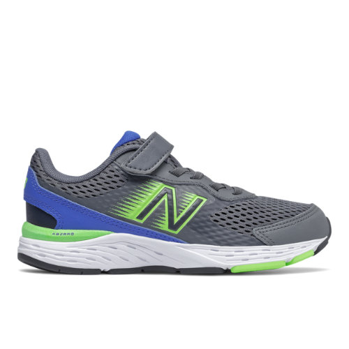 New Balance 680v6 Kids Running Shoes - Grey (YA680BD6)