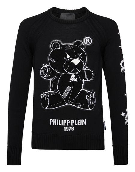 """Philipp Plein Sweater """"TEDDY BEAR"""" Men's Knitwear Pullover"""