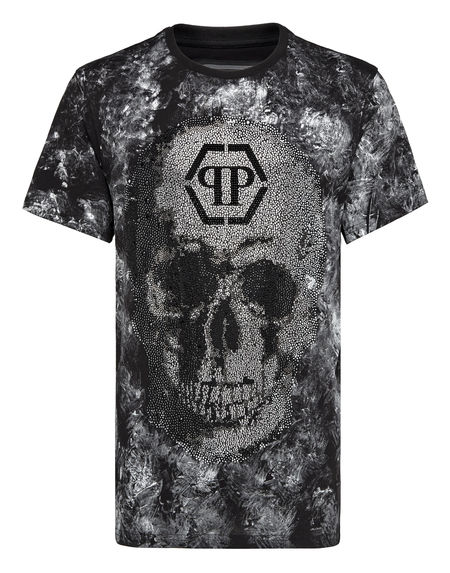 "Philipp Plein Men's T-Shirt ""CRYSTAL SKULL"""