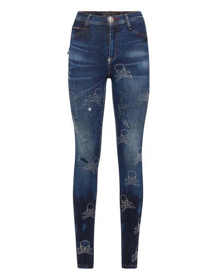 "Philipp Plein Jeans ""SKULL"" Women's Denim"
