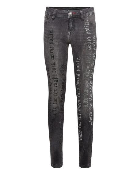 "Philipp Plein Women's Jeans ""CRYSTAL PLEIN"" Jeggings"