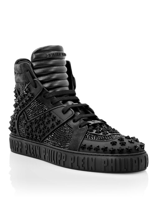 "Philipp Plein High-Top Sneakers ""Crystals & Studs"""