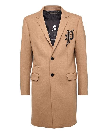 """Philipp Plein Men's Coat """"GOTHIC P"""""""