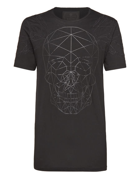 "Philipp Plein Men's T-Shirt ""FACES"" Skull Top"