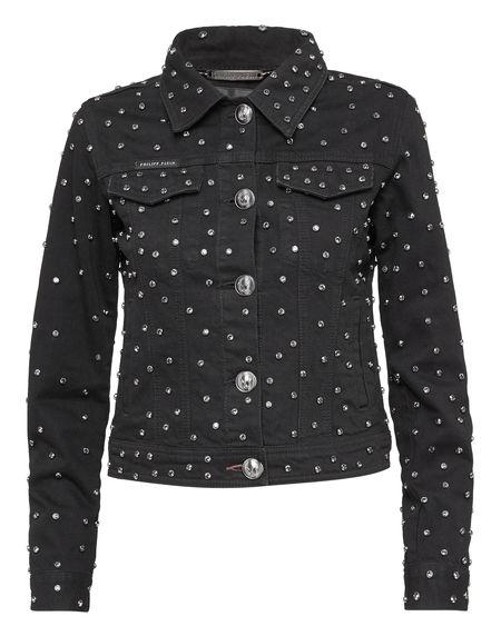 """Philipp Plein Women's Denim Jacket """"CRYSTALS MIND"""""""