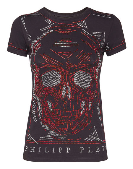 "Philipp Plein T-Shirt ""LINE SKULL"" Women's Tops"