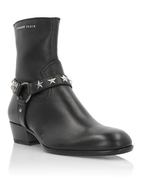 "Philipp Plein Men's Boots ""TOM"" Studs"