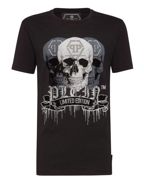 """Philipp Plein Men's T-Shirt """"PLATINUM SKULLS"""""""