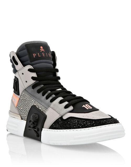"Philipp Plein Sneakers ""GRAY PHANTOM KICK$"""
