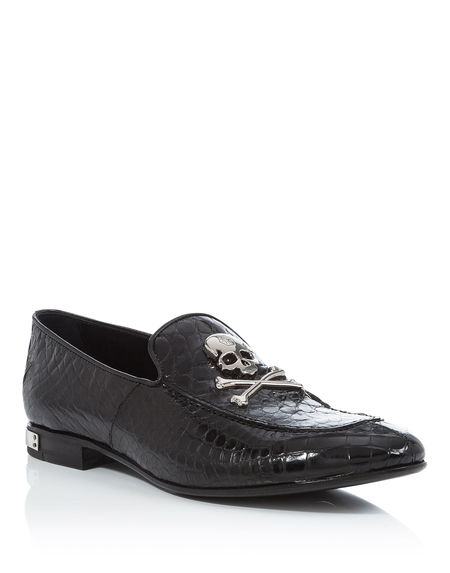 "Philipp Plein Moccasins ""SENIOR"" Men's Shoes"