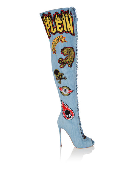 "Philipp Plein Women's Boots ""KOBRA LOVE HIGH"" Heels"