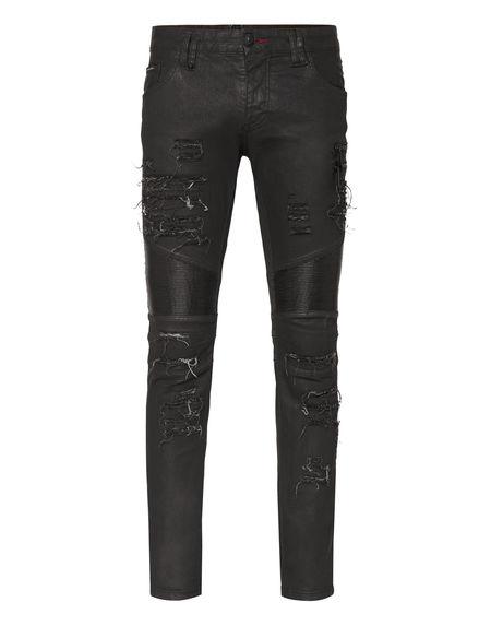 "Philipp Plein Men's Jeans ""BIKER ZIPPED"""