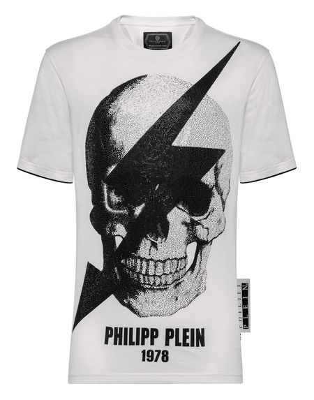 "Philipp Plein T-Shirt ""THUNDER SKULL"" Men's Top"