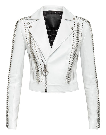 "Philipp Plein Women's Leather Jacket ""ELEGANT BIKER"""