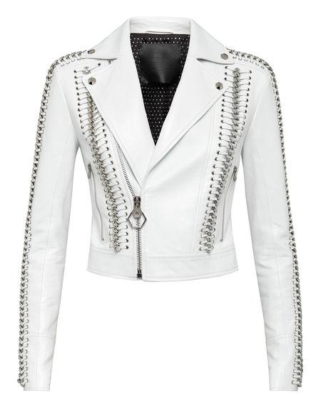 "Philipp Plein Women's Leather Jacket ""ELEGANT BIKER"""