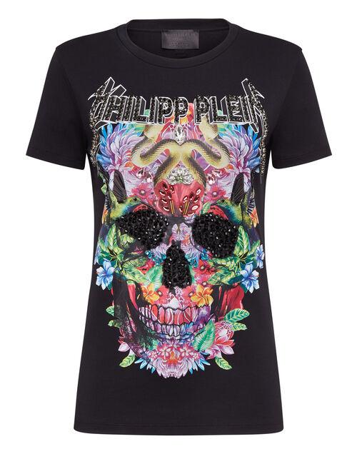 "Philipp Plein Women's T-Shirt ""Floral Skull"""