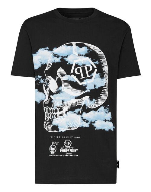 "Philipp Plein Men's T-Shirt ""Skull Clouds"""