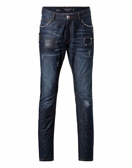 "Philipp Plein Men's Jeans ""LOVE IT"""