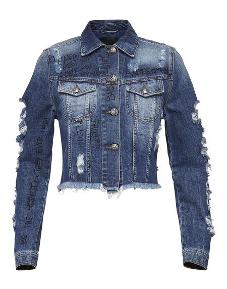 "Philipp Plein Women's Denim Jacket ""FREESIA"""