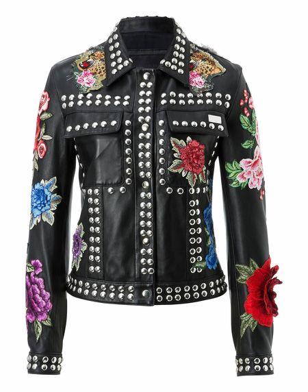 """Philipp Plein Leather Jacket """"MANTONI"""""""