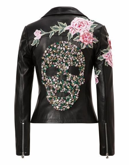 "Philipp Plein Biker Leather Jacket ""ERICKSON MAGDA"""
