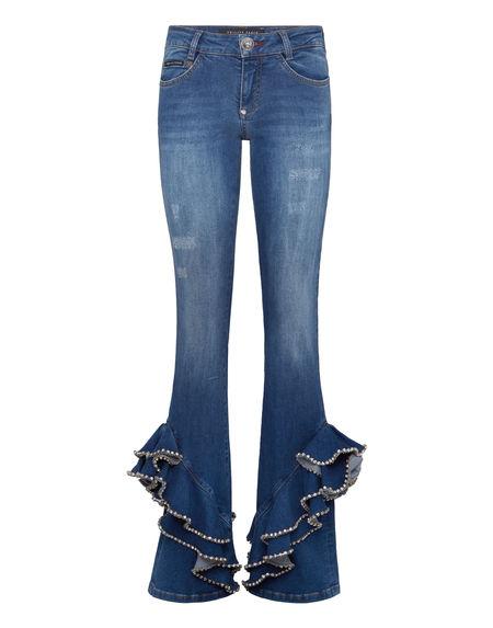 "Philipp Plein Women's Jeans ""BRITTANY RUFFLES"""
