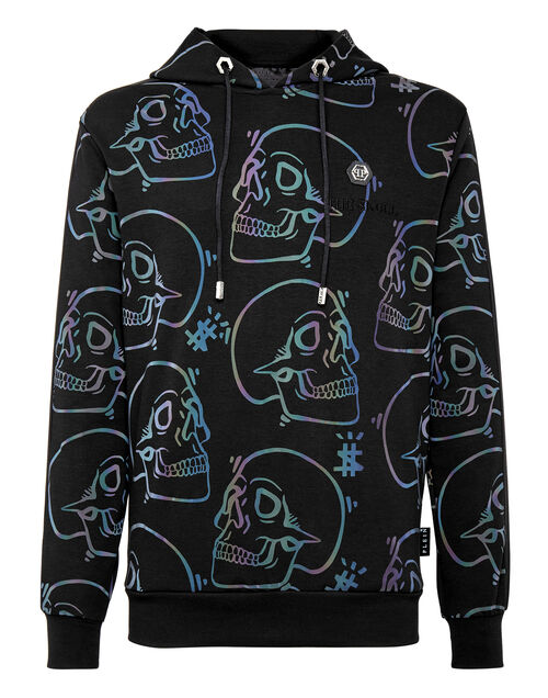 "Philipp Plein Men's Hoodie Sweatshirt ""Reflecting Skulls"""