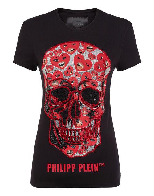 """Philipp Plein Women's T-Shirt """"SKULL HEARTS"""""""