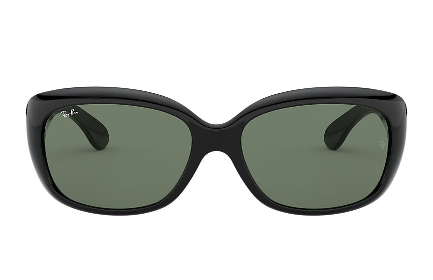 Ray-Ban Jackie Ohh Low Bridge Fit Black, Green Lenses - RB4101F
