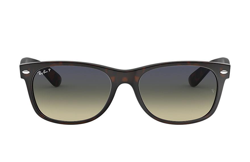 Ray-Ban New Wayfarer Classic Tortoise, Polarized Blue Lenses - RB2132