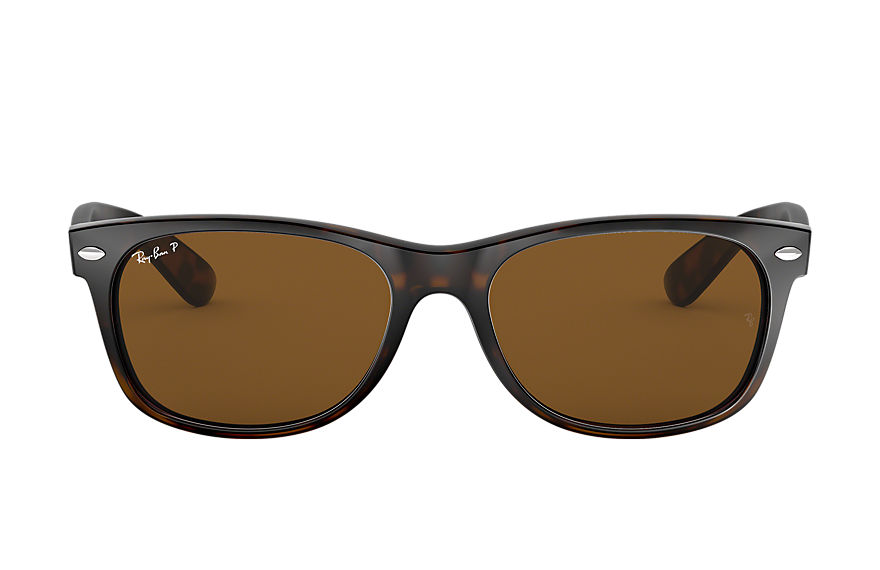Ray-Ban New Wayfarer Classic Tortoise, Polarized Brown Lenses - RB2132