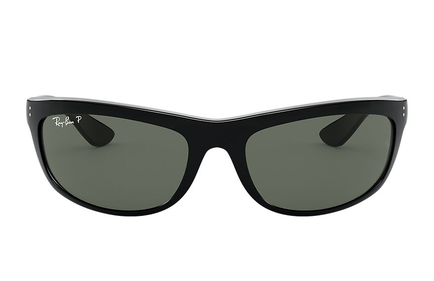 Ray-Ban Balorama Black, Polarized Green Lenses - RB4089