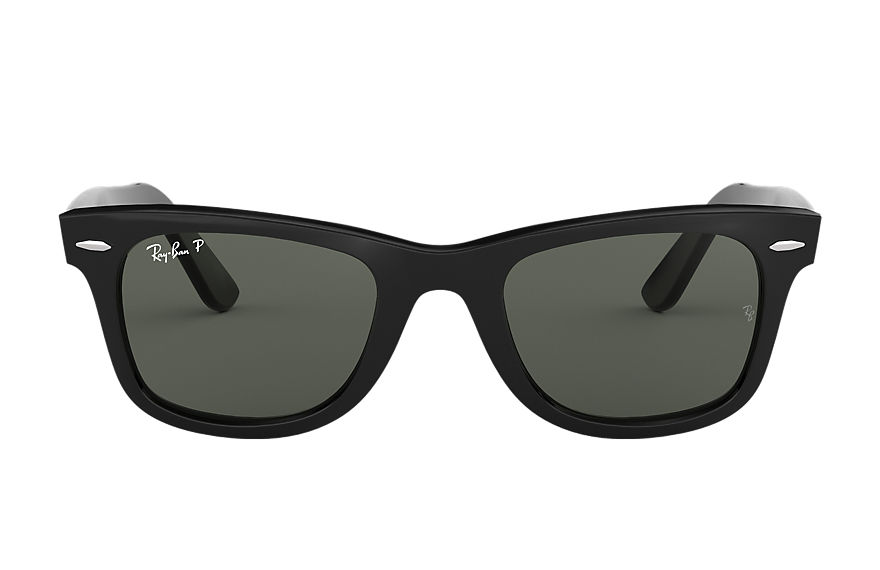 Ray-Ban Original Wayfarer Classic Black, Polarized Green Lenses - RB2140