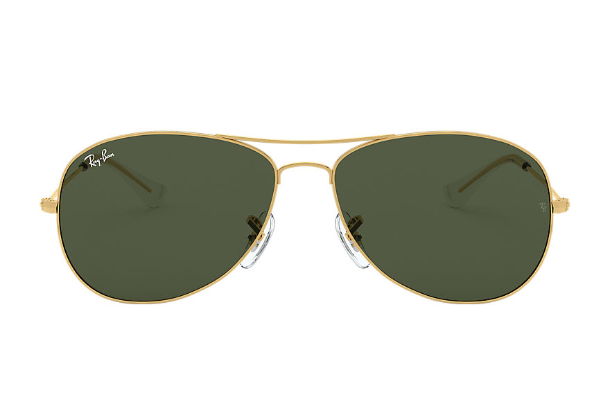 Ray-Ban Cockpit Gold, Green Lenses - RB3362