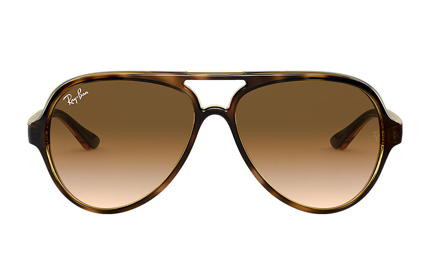 Ray-Ban Cats 5000 Classic Tortoise, Brown Lenses - RB4125