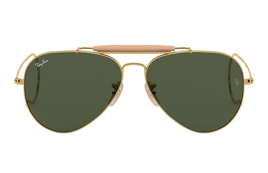 Ray-Ban Outdoorsman Gold, Green Lenses - RB3030