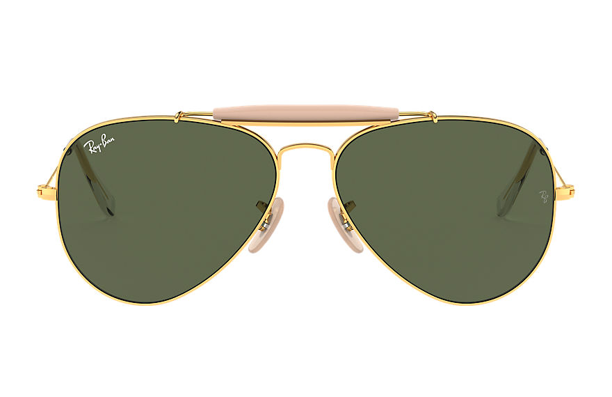 Ray-Ban Outdoorsman II Gold, Green Lenses - RB3029