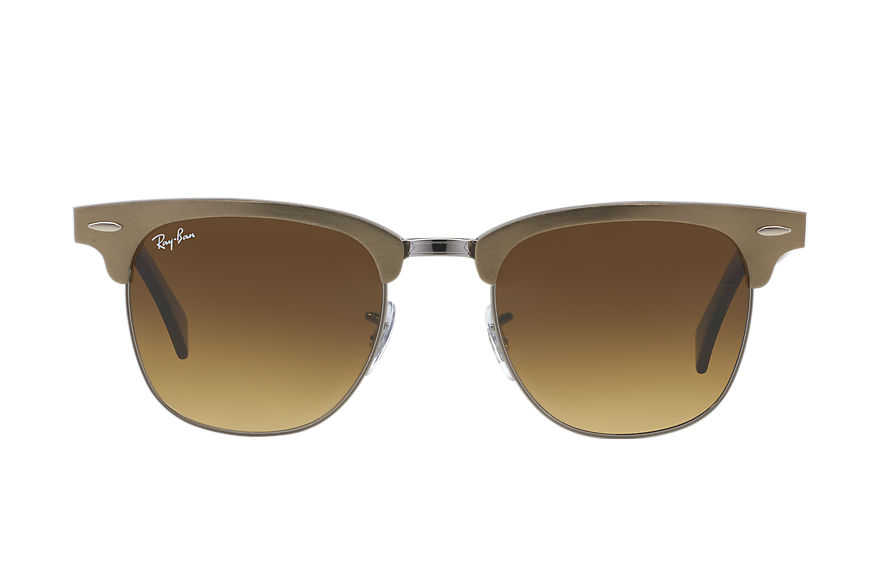Ray-Ban Clubmaster Aluminum Bronze-Copper, Brown Lenses - RB3507