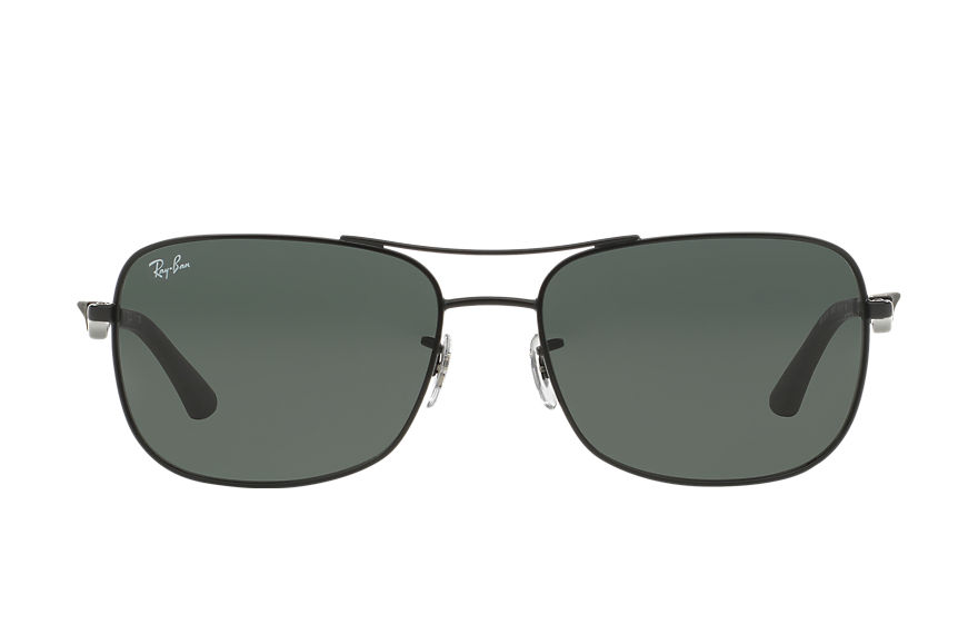 Ray-Ban Rb3515 Black, Green Lenses - RB3515