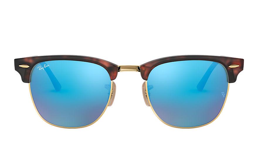 Ray-Ban Clubmaster Flash Lenses Tortoise, Blue Lenses - RB3016