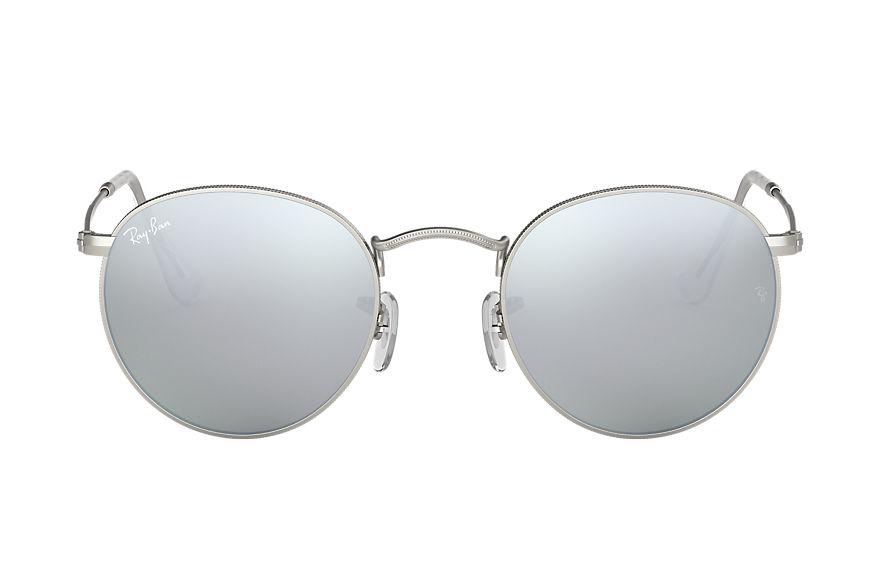 Ray-Ban Round Flash Lenses Silver, Gray Lenses - RB3447