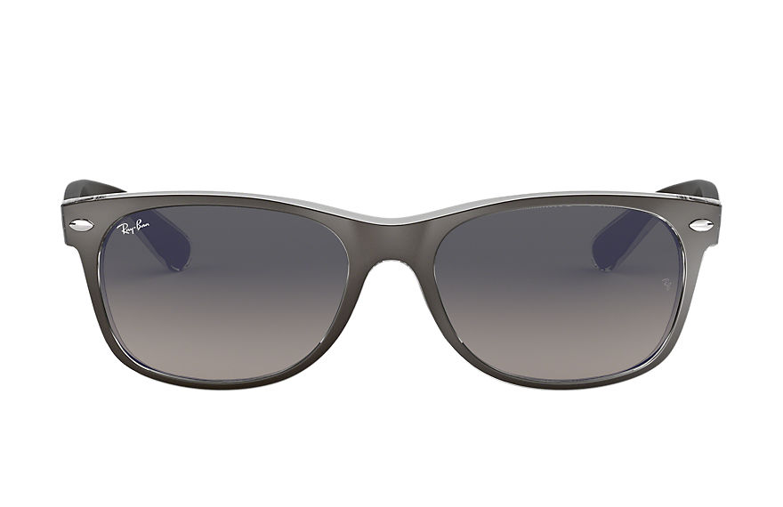 Ray-Ban New Wayfarer Color Mix Gunmetal, Gray Lenses - RB2132